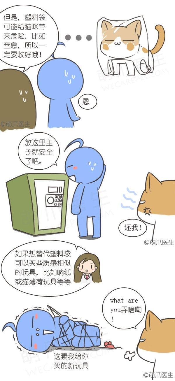 漫画 | 为什么猫咪超爱舔塑料袋?